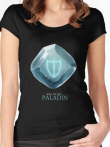 Soul of the Paladin -black Women's Fitted Scoop T-Shirt