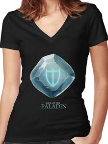 Soul of the Paladin -black Women's Fitted V-Neck T-Shirt