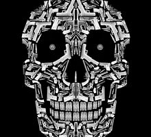 Skull Of Guns (B&W) by Carlos Aledo Sánchez
