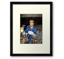 Balinese papaya lady Framed Print
