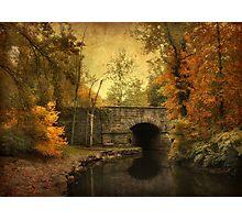 Bridge to Autumn Photographic Print