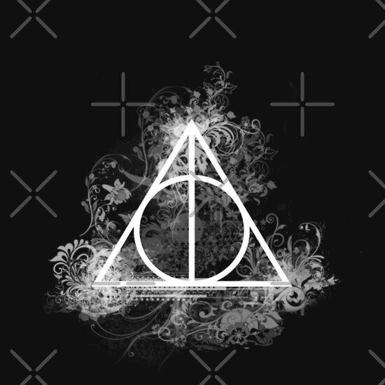 The deathly hallows a t shirt of harry potter cute geek for Deathly hallows elder wand