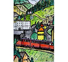 Train ride in the Alps Photographic Print