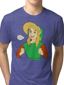 Link- I Can't Wait To Bomb Some Dodongos! Tri-blend T-Shirt