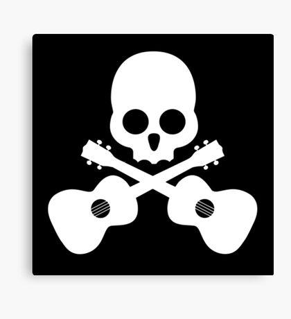 Old Skull Music Guitar Canvas Print