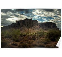 Morning in the Superstitions Poster