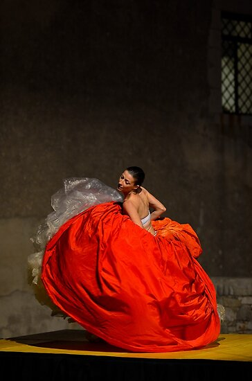 Dancer in red  by Andrea Rapisarda