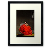 Dancer in red  Framed Print
