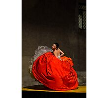 Dancer in red  Photographic Print