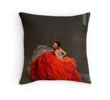 Dancer in red  Throw Pillow