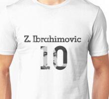 Zlatan Ibrahimovic 10 - Black & White Unisex T-Shirt