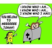 Funny Cartoon- Angel Heart Photographic Print