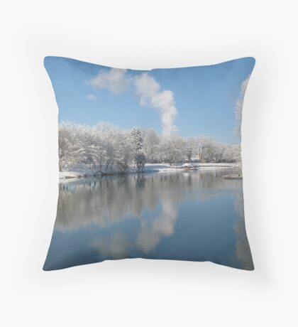 Snowy Sacajawea Throw Pillow