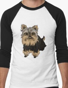 Yorkie Pup Men's Baseball ¾ T-Shirt