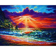 Molokai Sunset Photographic Print