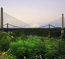 Penobscot Narrows Bridge  by John  Kapusta