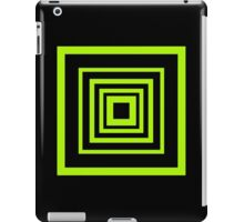 Square Retro Pattern Design Lime and Black  iPad Case/Skin