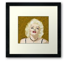 Marilyn- Digital Portrait of Marilyn Monroe Framed Print