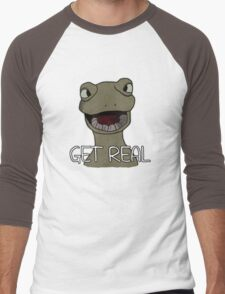 Drinking Out of Cups- Get Real Men's Baseball ¾ T-Shirt