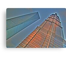 Jin Mao Tower & SWFC Canvas Print