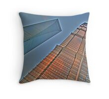 Jin Mao Tower & SWFC Throw Pillow