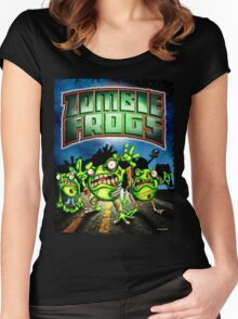 Zombie Frogs  Women's Fitted Scoop T-Shirt