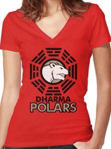 DHARMA Polars Women's Fitted V-Neck T-Shirt
