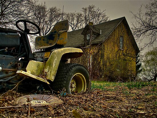 Lawnmower Grave by BacktrailPhoto