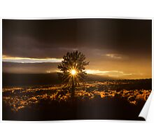Poe Valley, Oregon Sunset Poster