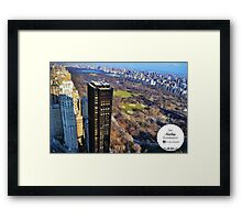 House on the Park Framed Print