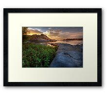 Curved Sunset Framed Print