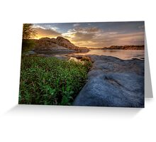 Curved Sunset Greeting Card