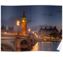 Big Ben at night. Poster