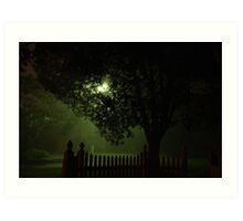 Midnight streetscape Art Print