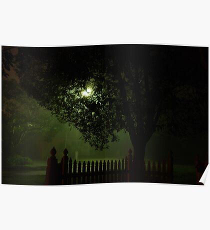 Midnight streetscape Poster