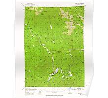 USGS Topo Map California Happy Camp 297637 1956 62500 Poster