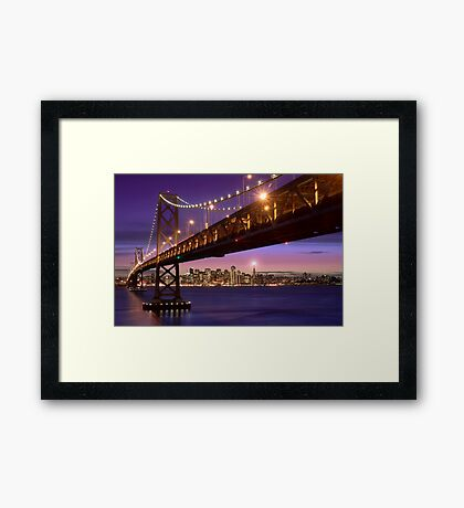 The SF Bay Bridge at Twilight Framed Print