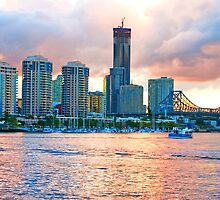 A View to Dockside, Brisbane by Beth  Wode