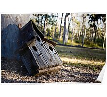 A Lonely Birdhouse Poster