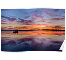 Sunset on the lake. 30-7-11. Poster