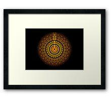 Martian Mandala Framed Print