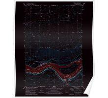 USGS Topo Map Washington Wishram 244772 1977 24000 Inverted Poster