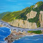 Sea Cliff Bridge on the edge of the Illawarra Escarpement by PamelaMeredith