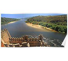Castelo de Almourol. Rio Tejo. Templários Poster
