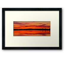 Winter Sunset. 30-7-11. Framed Print