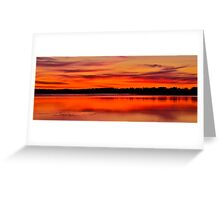 Winter Sunset. 30-7-11. Greeting Card