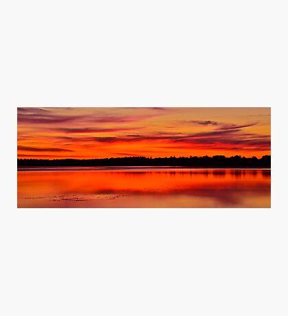 Winter Sunset. 30-7-11. Photographic Print