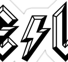 TESLA-AC|DC Sticker