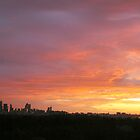 Melbourne Sunset - Winter 2011 by Alison  Eno