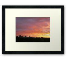 Melbourne Sunset - Winter 2011 Framed Print